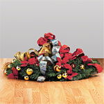 Collapsed Thomas Kinkade Pre Lit Pull Up Christmas Tree