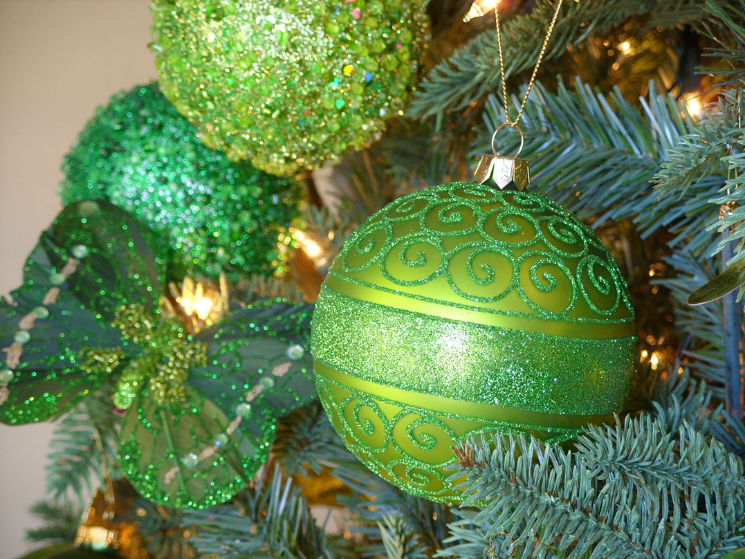 decoration green ornament - Green Christmas Tree Decorations