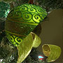 Irish green ornaments and ribbon