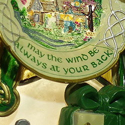 Irish Blessing on snowman ornament