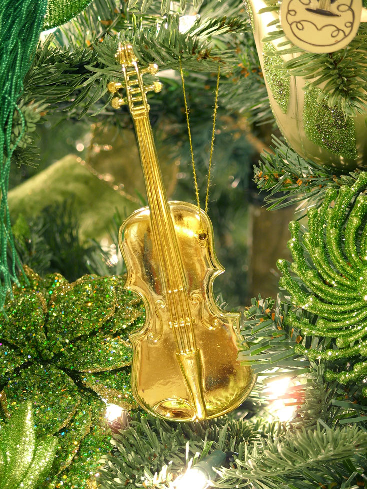 Christmas Tree Ornament Violin | Holliday Decorations